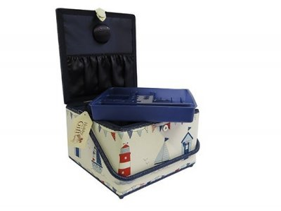 Large Sewing Box - Extra Large Maritime Blue GB1122