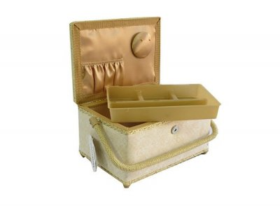 Medium Sewing Box - Cream Swirl GB888