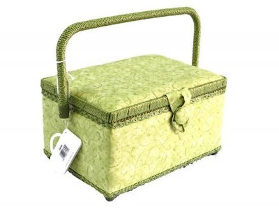 Medium Sewing Box - Green Swirl GB888