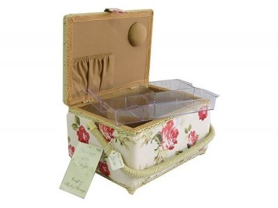 Medium Sewing Box - Vintage Rose MRW B/CR