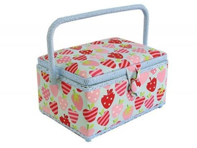 Medium Sewing Box - Red and Pink Strawberries GB1043