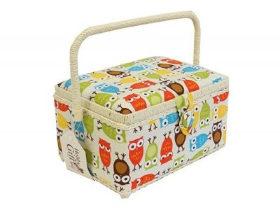 Medium Sewing Box - Bright Owls GB1167