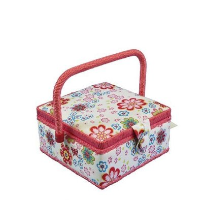 Small Sewing Box - Pink Floral GB1045