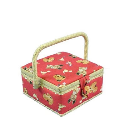 Small Sewing Box - Red Teddies GB1087