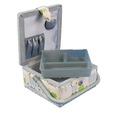 Small Sewing Box - Blue Horses GB1093