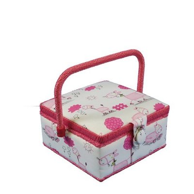 Small Sewing Box - Pink Horses GB1093