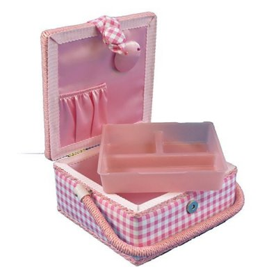 Small Sewing Box - Pink Gingham GB1070