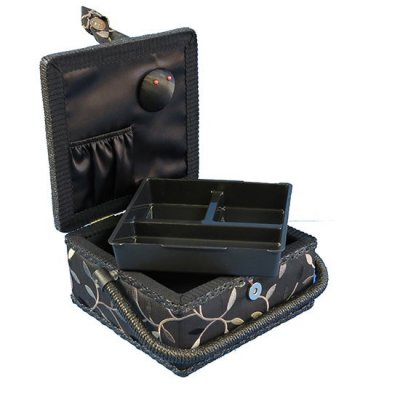 Small Sewing Box - Black With Gold Vine GB1003