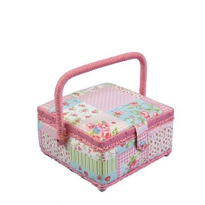 Small Sewing Box - Pink Patchwork MVS/14
