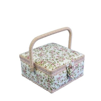 Small Sewing Box - Pink Vintage Rose GB1151