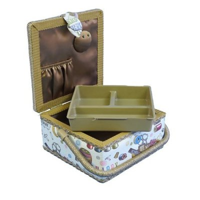 Small Sewing Box - Ivory Sewing Notions GB1154