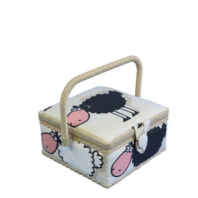 Small Sewing Box - Cream Sheep GB1221