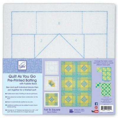 Fair Square - Quilt As You Go Polyester batting series