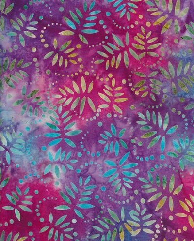 Fabric Freedom Bali Batik - Purple 6