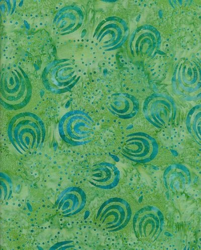 Fabric Freedom Bali Batik - Green 3