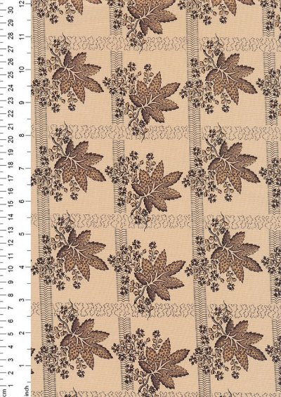 Andover Fabrics By Kathy Hall & Margo Krager - Brown Leaf Mocha