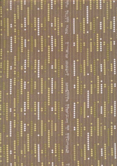 Andover Fabrics Gilded Designs By Lizzy House & Lonni Rossi - Binary Brown
