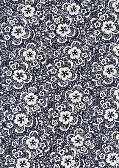 Cotton Print - 88502 Floral Cross Section On Navy