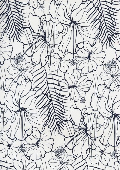 Cotton Print - 88691 Floral Sketch On Cream