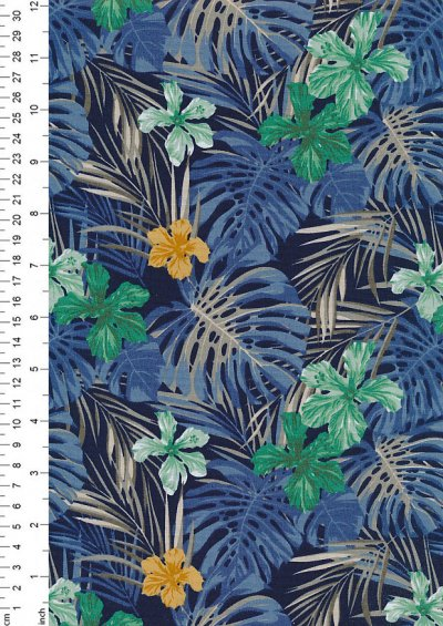 Rose & Hubble - Quality Cotton Print CP-0739 Navy