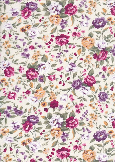 Rose & Hubble - Quality Cotton Print CP-0495 Cream