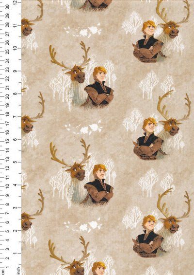 Craft Cotton Co - Frozen Kristoff and Sven  Watercolour