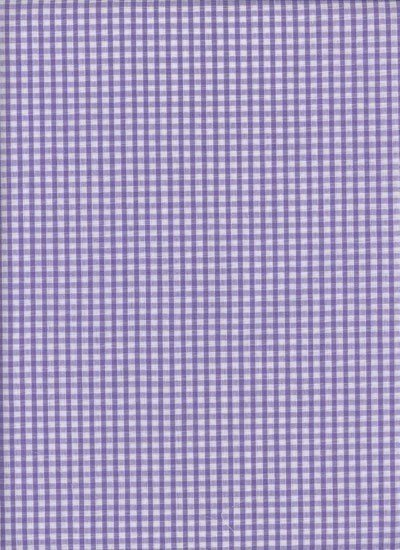 Poly-Cotton Gingham - Lilac