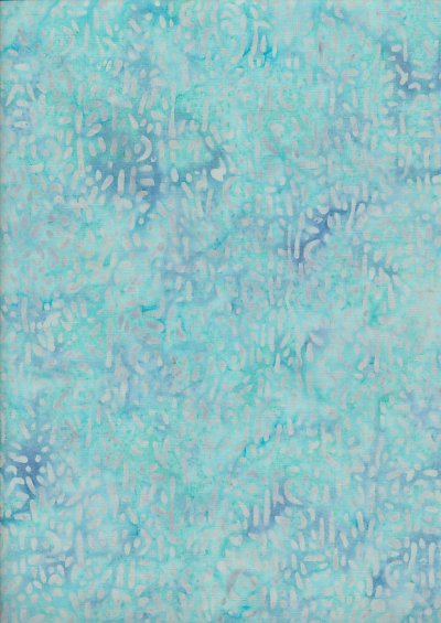 Doughty's Exclusive Bali Batik - Scattered Seed Grey On Turquoise