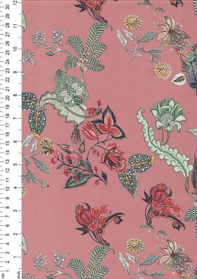Lady McElroy Cotton Twill - Continental Blooms 424