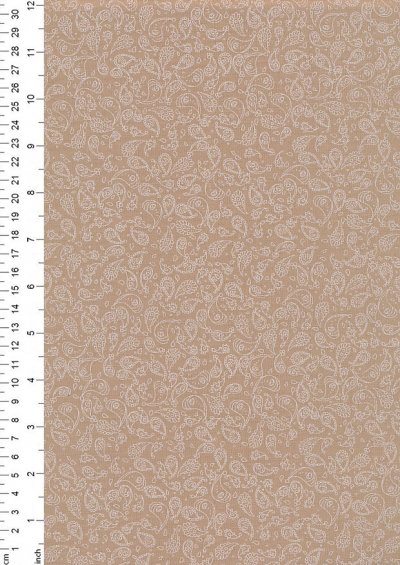 Poly/Cotton - Paisley Beige Design 48