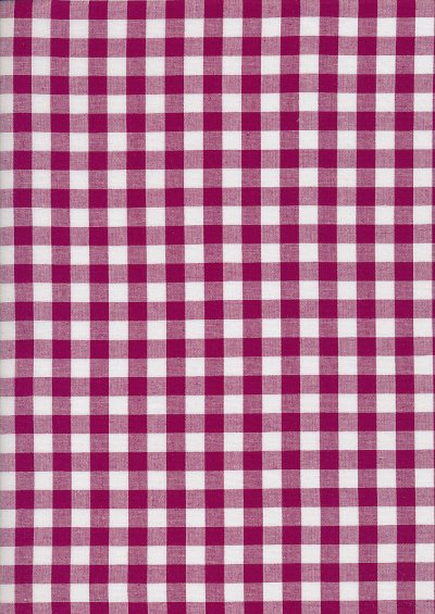 Yarn Dyed Cotton Gingham  - Cherry Red 2021N