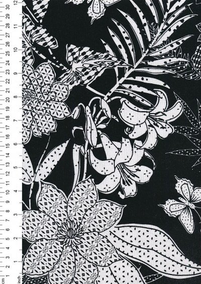 Creative Solutions Viscose/Spandex Print -  Black PC1363-069