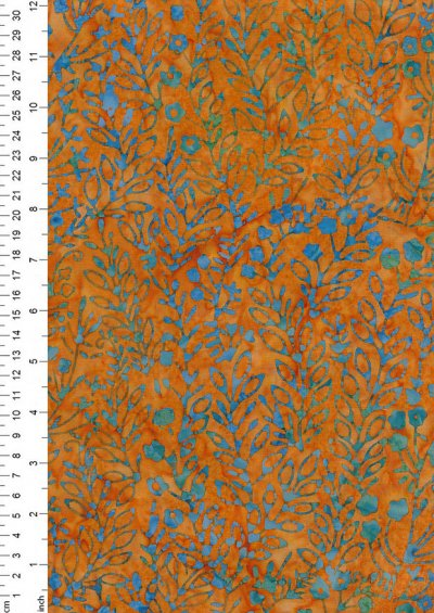 Fabric Freedom Bali Batik Stamp - Batik Stamp  - Orange 146/F