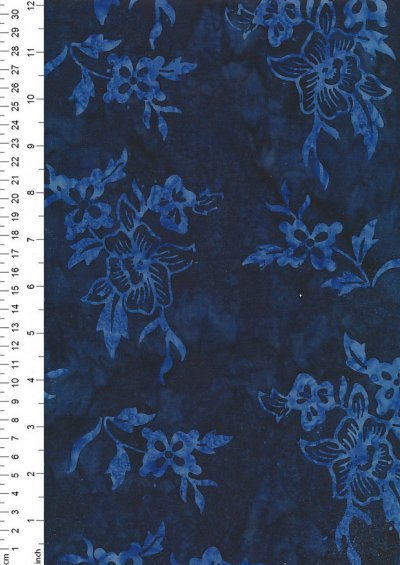Fabric Freedom Bali Batik Stamp - BK 401/F Blue