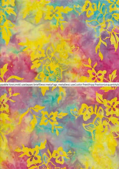 Fabric Freedom Bali Batik Stamp - BK 401/I Yellow