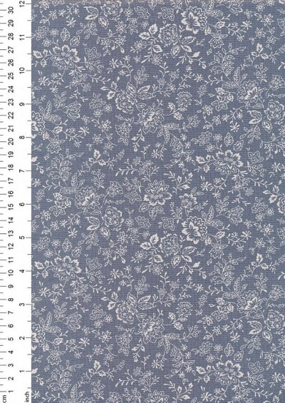 Fabric Freedom - Floral Silhouette FF25 Col 8