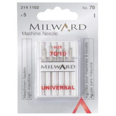 Sewing Machine Needles: Universal: 70/10: 5 Pieces
