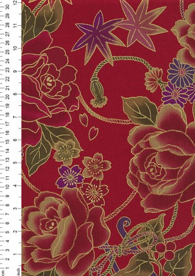 Authentic Gilded Japanese - Rose Red 68970 col 107
