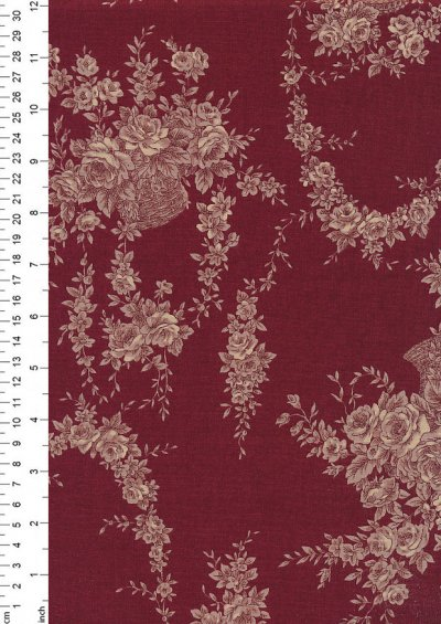 Lecien Japanese Fabric - Vintage Rose 20800-131 RED