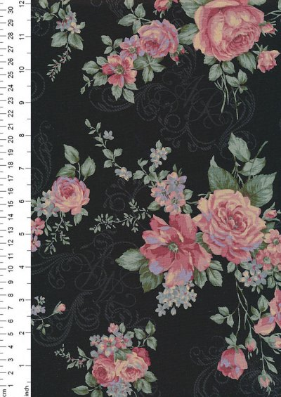 Lecien Japanese Fabric - Vintage Rose 20800-107 BROWN