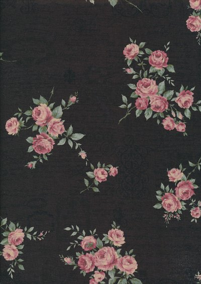 Lecien Japanese Fabric - Vintage Rose 20800-114 BROWN