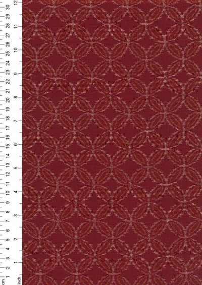 Sevenberry Japanese Fabric - Connected Circles Red