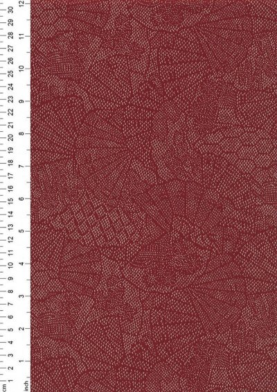 Sevenberry Japanese Fabric - Fossil Red