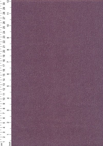Sevenberry Japanese Fabric - Dots Purple
