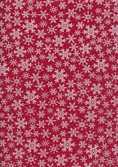 John Louden Christmas Collection - Gilded Packed Snow Red Red/White/Silver JLX0034