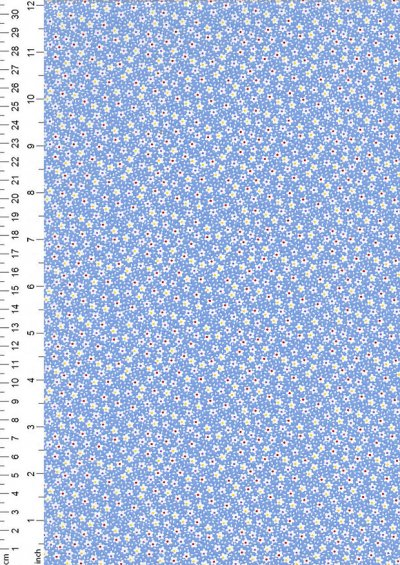 Kingfisher Fabrics - Vintage Miniatures blue 49479