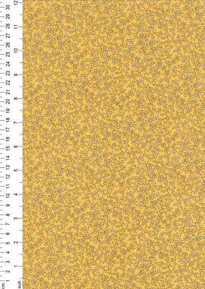 Kingfisher Fabrics - Vintage Miniatures bright yellow 49483