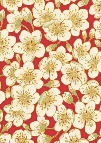 Leesa Chandler - Summer Palace Blossom Red/Ivory 0023-1