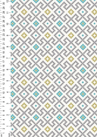 Lewis & Irene - Lindos A267.1 - Grey Greek tiles with gold