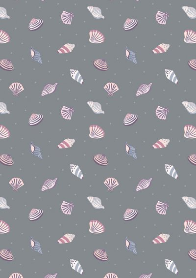 Lewis & Irene - Small Things By The Sea SM18.3 Shells on dark grey